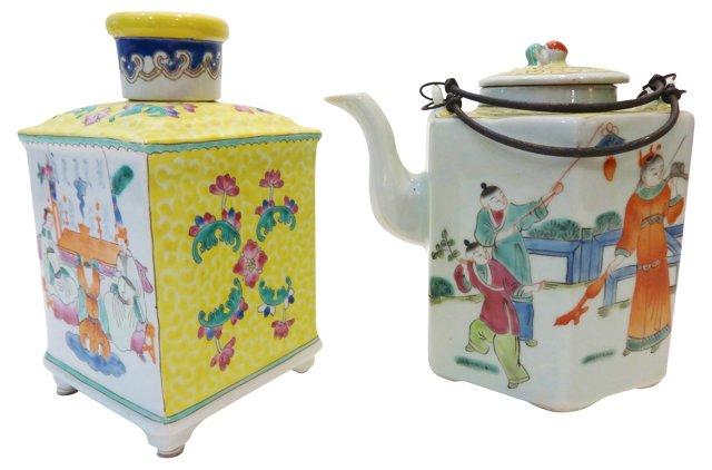 Tea Canister & Teapot