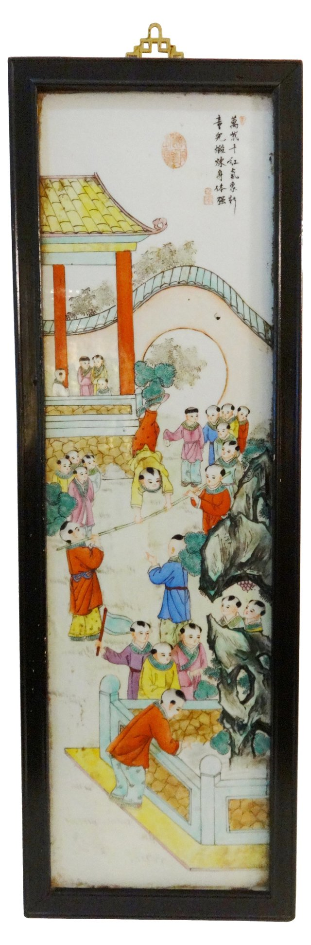 Antique Chinese Porcelain Panel