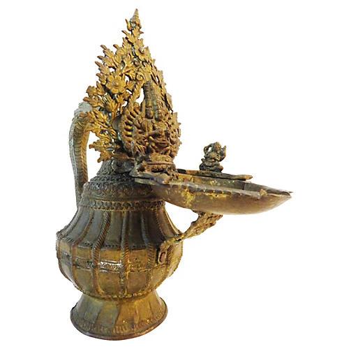 Nepalese Bronze Ritual Vessel