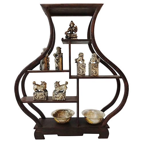Miniature Wood Stand Set, S/10