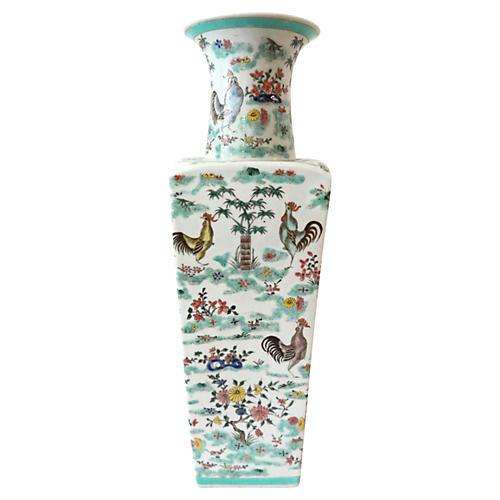 Famille Rose Rooste Vase