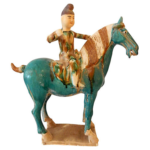 Tang Dynasty-Style Horse & Rider