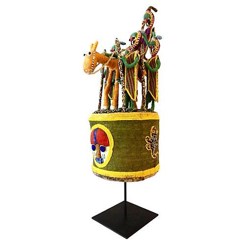 African Yoruba Beaded Crown