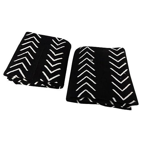 Malian Black & White Textiles, S/2