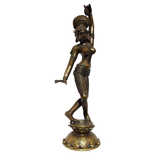Indian Sculpture of Dancing Deity