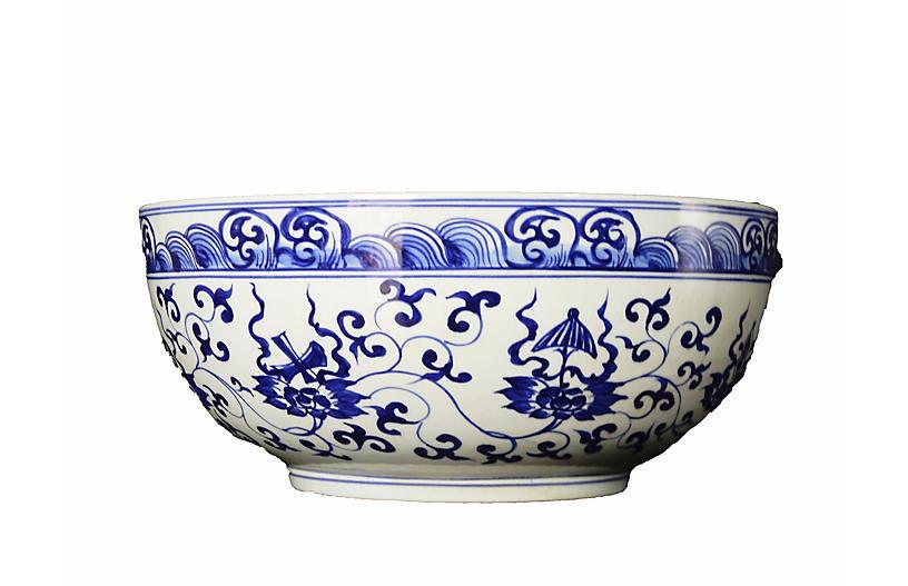 Large Blue & White Bowl