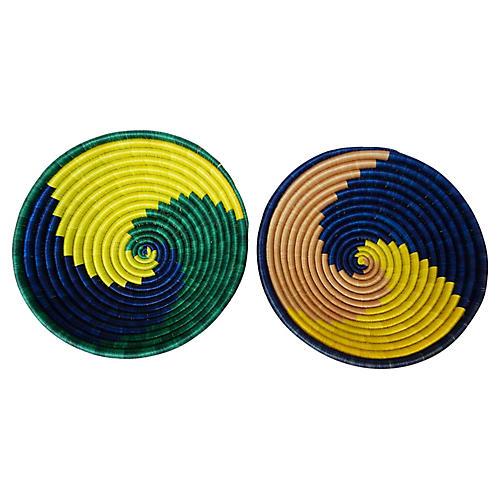 Burundi Baskets, Pair