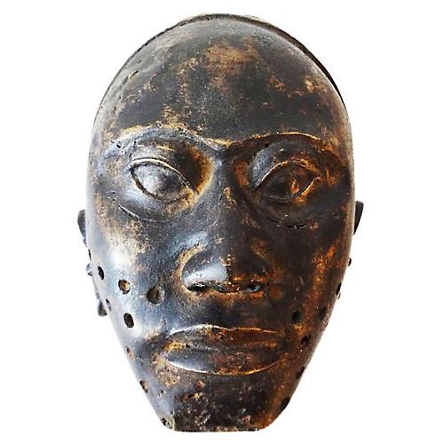 African Bamum Bronze Mask