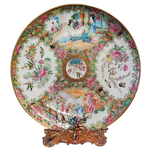 19th-C. Chinese Export Plate