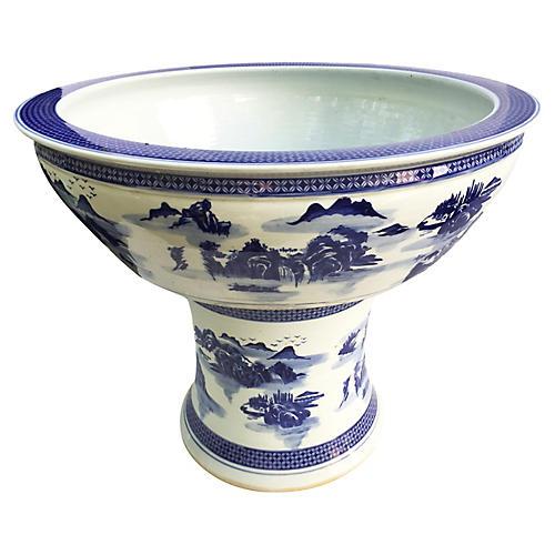 Blue & White Porcelain Planter