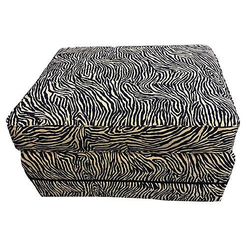 LG Animal Print Zebra Ottoman