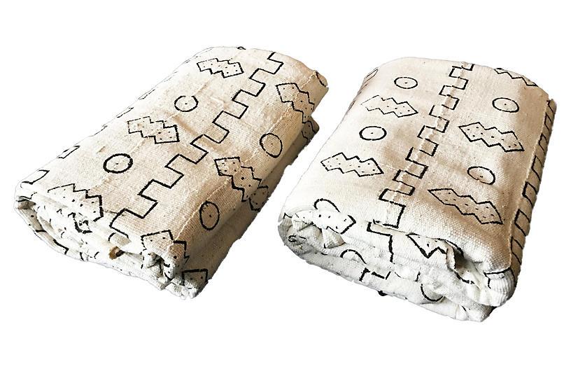 Mud-Cloth Textiles, Pair