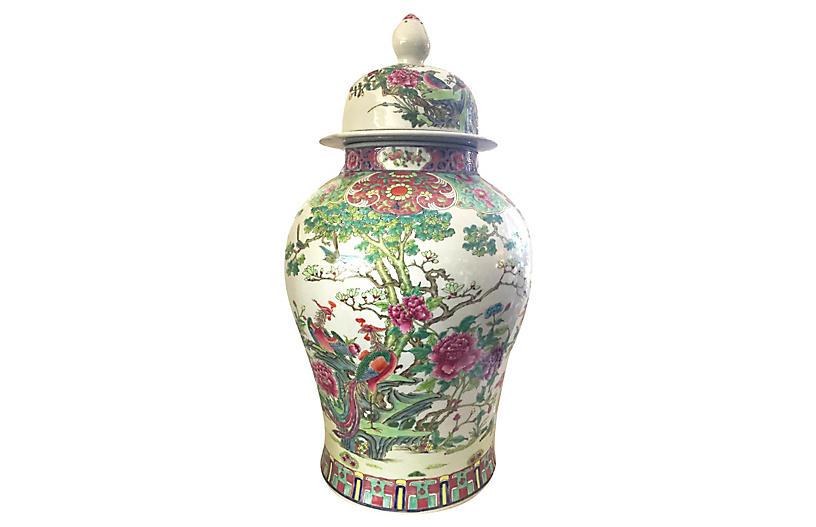Famille Rose Porcelain Ginger Jar