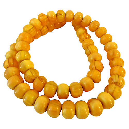 Moroccan Currency Amber Beads