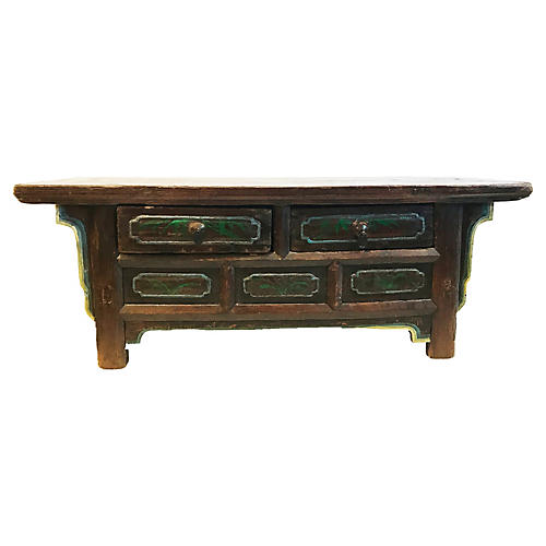 Tibetan Low Altar Table Chest