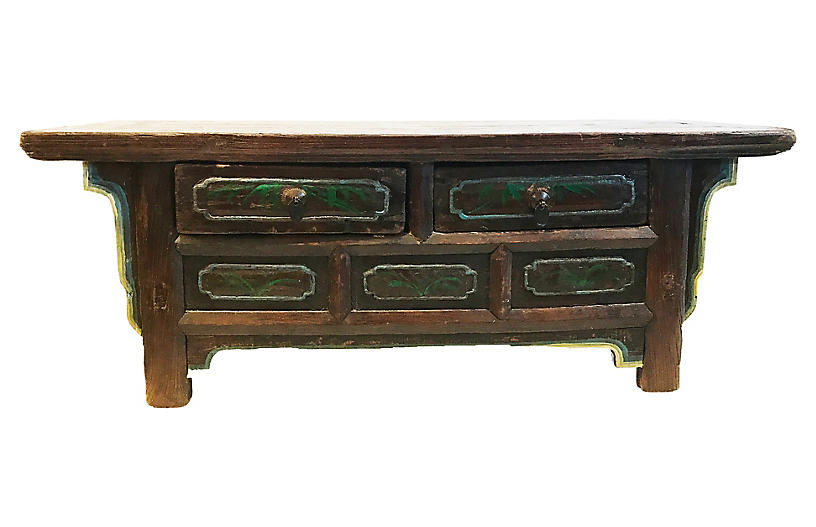Tibetan Low Altar Table Chest