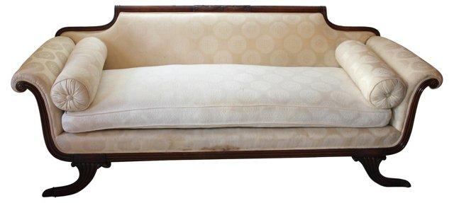 White Duncan Phyfe Style Sofa