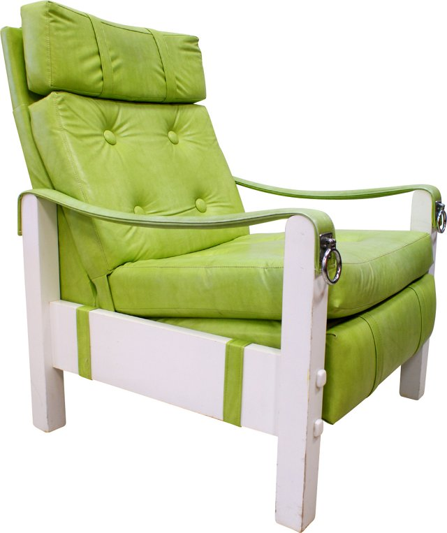 Button-Tufted Lounge Chair
