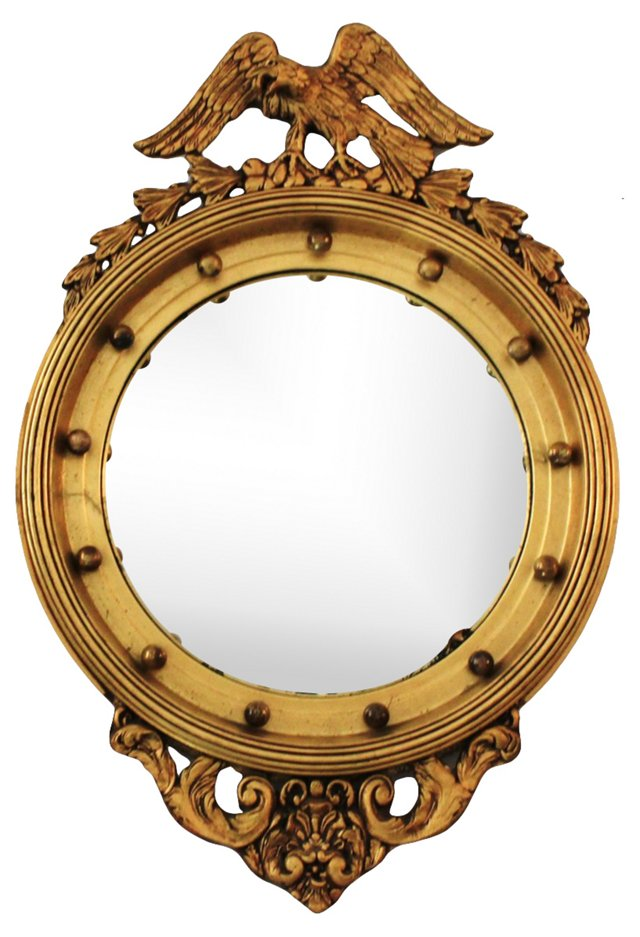 Federal-Style Giltwood Convex Mirror