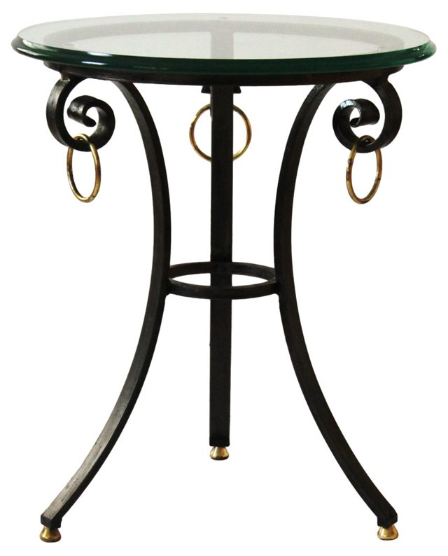 Iron and Brass Side Table