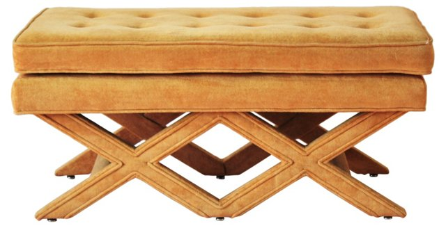 Upholstered Double-X Bench