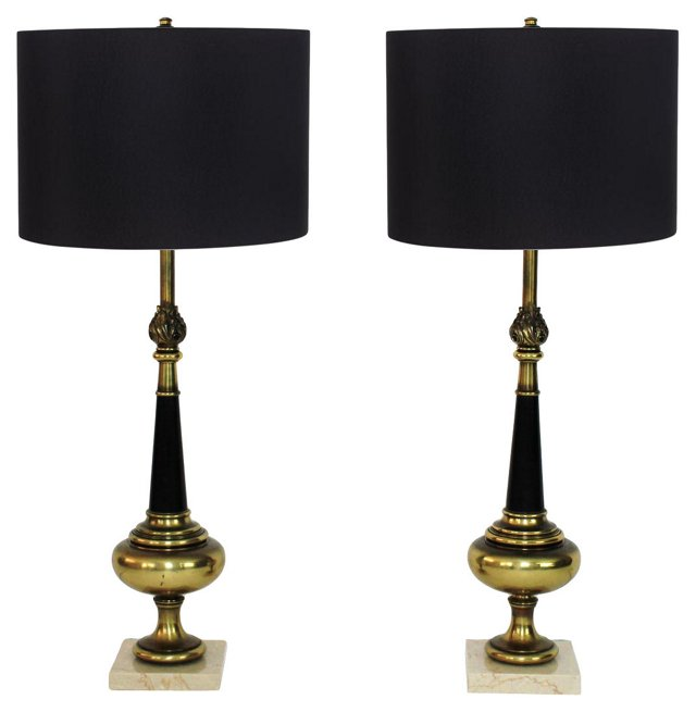 Neoclassical Lamps by Stiffel, Pair
