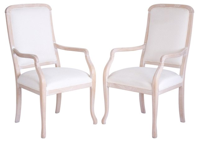 Italian Armchairs by Chateaux D'Ax, Pair