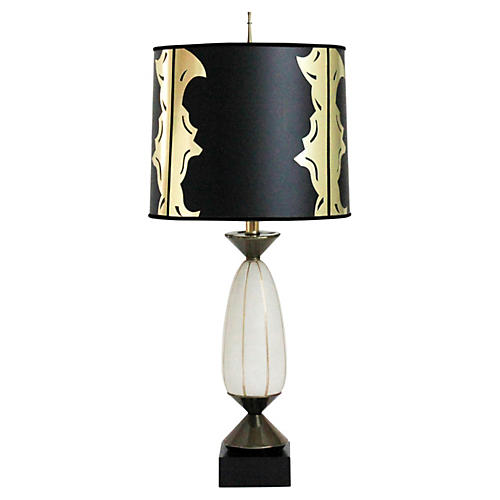 Regency Glass Lamp w/ Custom Shade