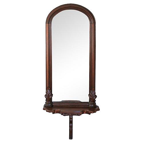 Walnut Pier Mirror, C. 1900