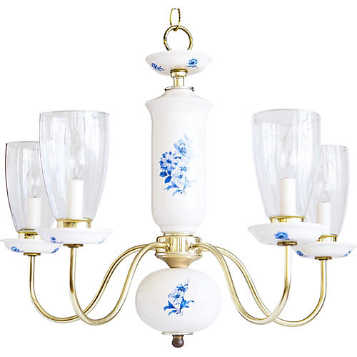 Blue & White Porcelain Chandelier
