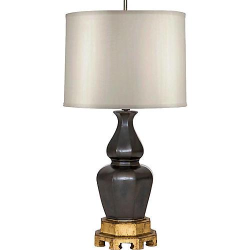 Ceramic Lamp on Giltwood Base