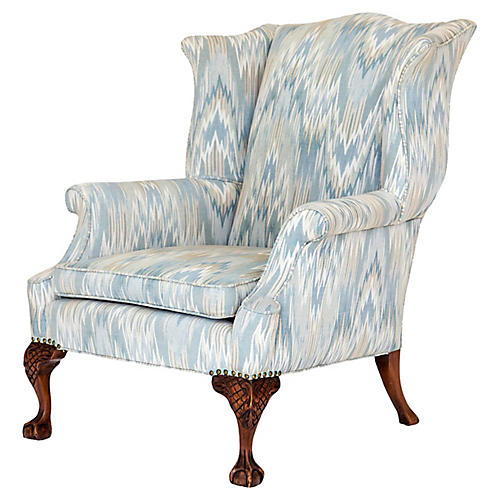George II Style Wingback Chair