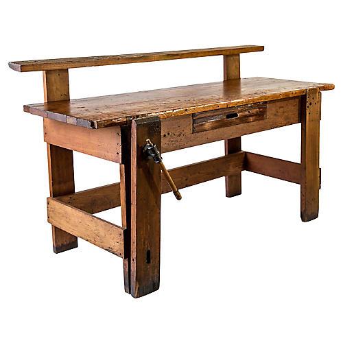 Rustic Carpenter's Workbench Sideboard