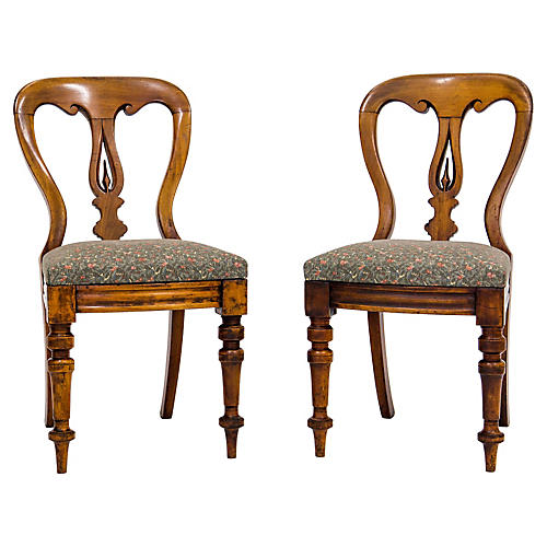 Victorian Side Chairs C. 1860, Pair
