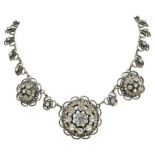 Sterling Filigree Floral Necklace