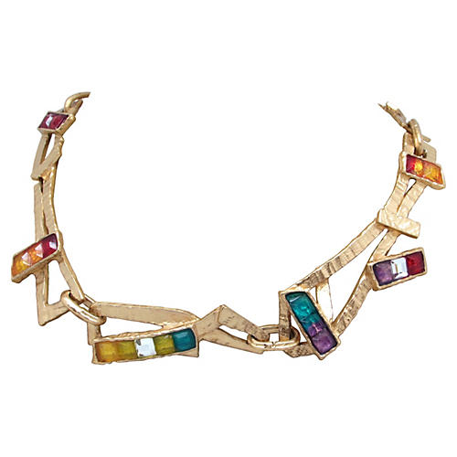 Christian Lacroix Poured Glass Necklace