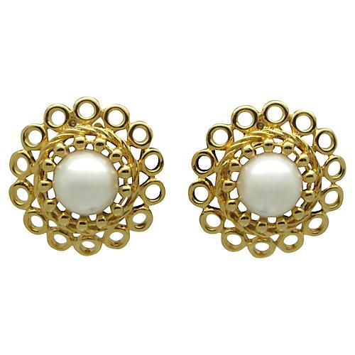 Paolo Faux-Pearl Earrings