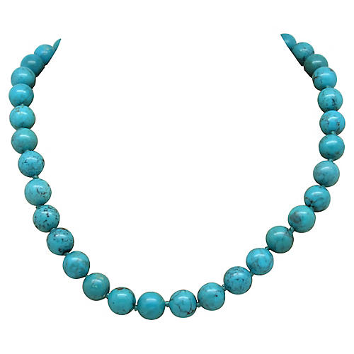 Carolee Faux-Turquoise Bead Necklace