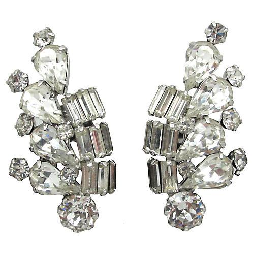 Weiss Teardrop & Baguette Earrings