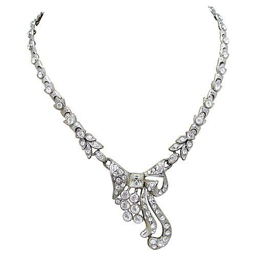 Stylized Art Deco Bow Necklace