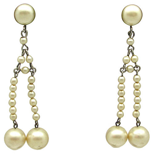 Edwardian Faux-Pearl Earrings