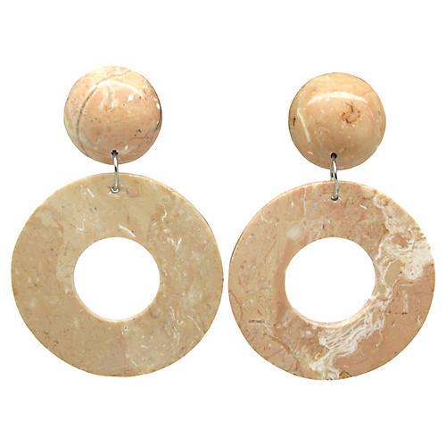 Faux Agate Pendulum Style Earrings