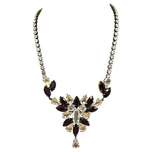 Husár.D Czech Faceted Glass Necklace