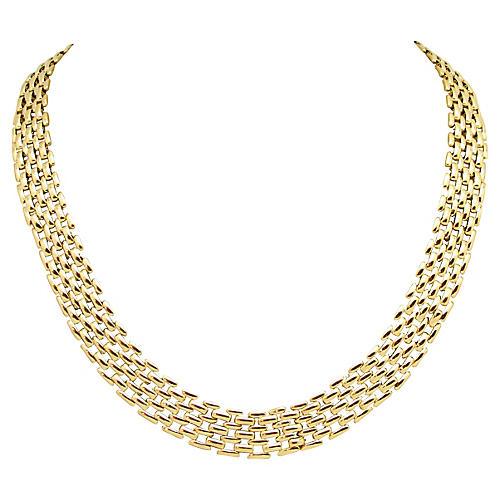 Goldtone Metal Gate Link Necklace