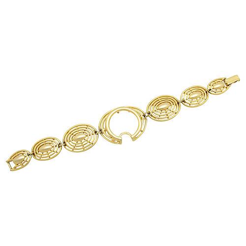 Goldtone Spiderweb Link Bracelet