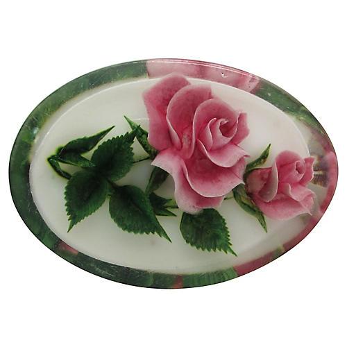 Lucite Rose Pin