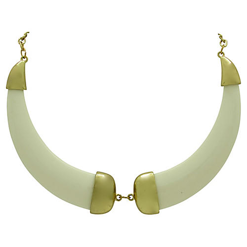 Streamlined Faux-Ivory Necklace
