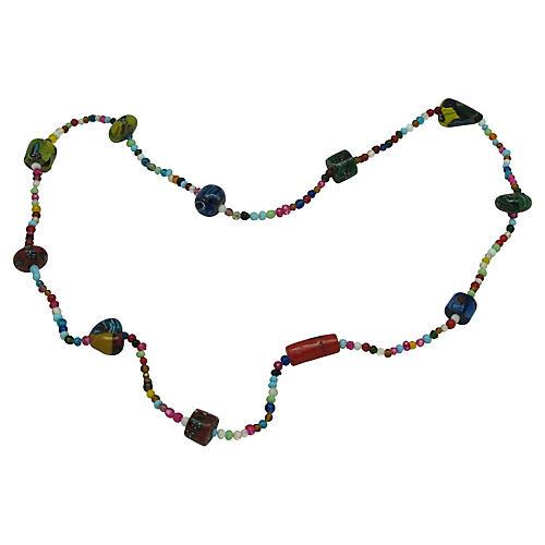 """30"""" Millefiori Bead Necklace"""