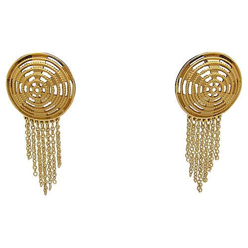 Shield w/ Chains Earrings