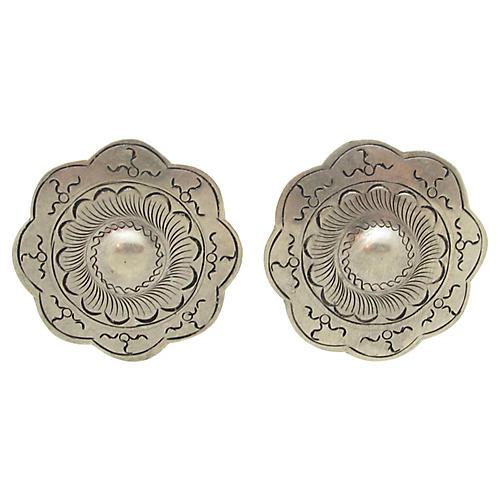 Engraved Turkish Earrings